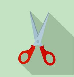 scissors icon flat style vector image