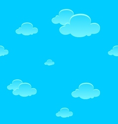 Seamless cartoon clouds background vector