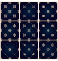 Seamless islamic pattern set Vintage floral vector