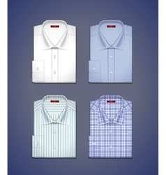 Set of a classic shirts vector