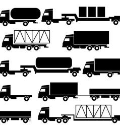 Set of icons - transportation symbols Black vector