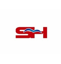 Sh letters logo vector