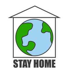 stay home pandemic covid-19 quarantine vector image