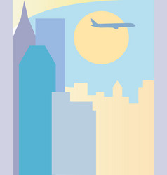 Travel to usa new york silhouette vector
