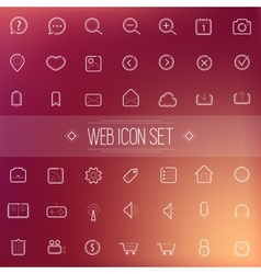 Trendy Line Icons Web Mobile Applications vector