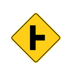 Usa traffic road signs side road intersection vector
