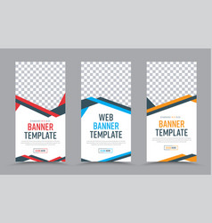 Vertical banners design in a place for a photo vector