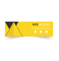 web header modern yellow black background i vector image
