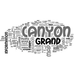 Where is the grand canyon text word cloud concept vector