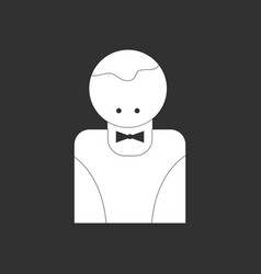 White icon on black background casino delar vector