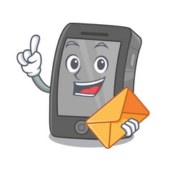 With envelope ipad isolated with in character vector