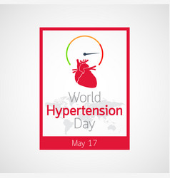 World hypertension day icon vector