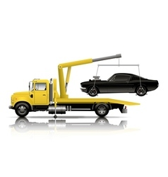 YELLOW TOW TRUCK vector