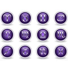 Zodiac buttons vector