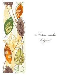 Autumn background seamless pattern vector image
