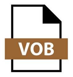 file name extension vob type vector image vector image