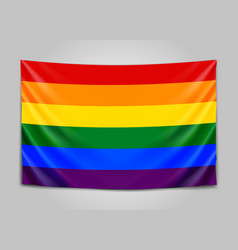hanging flag of lgbt tolerance concept vector image vector image