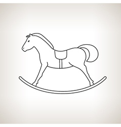 Rocking horse on a light background vector