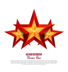 Three Achievement Stars Realistic Sign vector image vector image