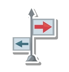 arrows guide way isolated icon vector image vector image
