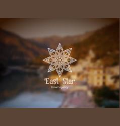 asian star logo vector image vector image