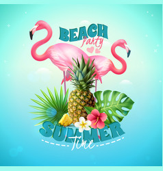 beach party background vector image vector image
