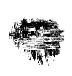 Black brush strokes design element vector image vector image
