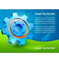 Blue gear text vector image vector image