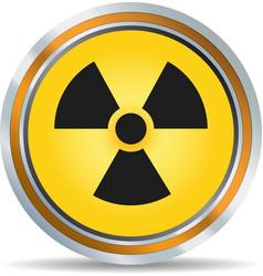 Radiation icon vector image vector image