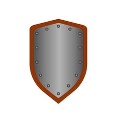 Sign shield silver 1708 vector image vector image