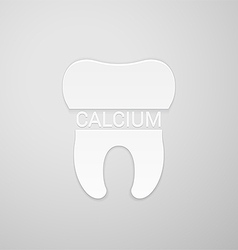 Teeth need calcium vector image vector image