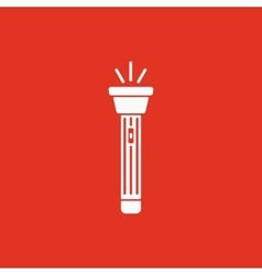 The flashlight icon Torch symbol Flat vector image