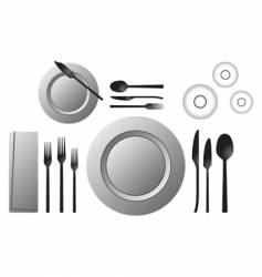 formal table vector image