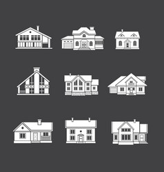 houses icons set real estate vector image vector image