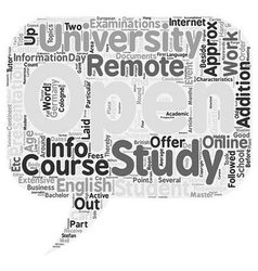 Info Event Open University Duisburg text vector image vector image