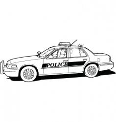 police cruiser vector image vector image