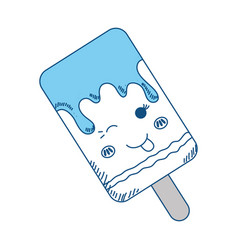 sweet ice cream kawaii cute cartoon vector image
