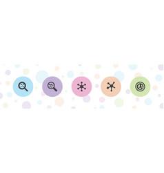 5 microscopic icons vector