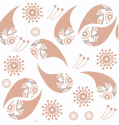 abstract gentle colors paisley seamless pattern vector image
