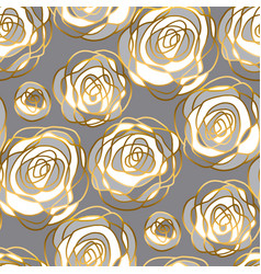 abstract gold and white rose motif vector image