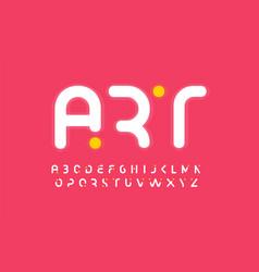 art creative alphabet modern abstract font design vector image