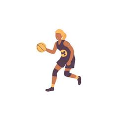 basketball woman vector image