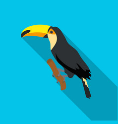 brazilian toucan icon in flate style isolated on vector image