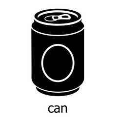 can icon simple black style vector image