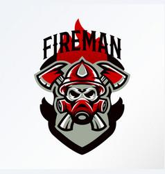 colorful badge logo sticker emblem skull vector image