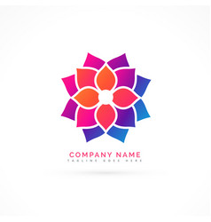 colorful flower logo design vector image