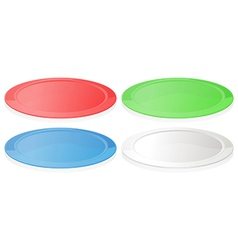 Colorful plates vector image