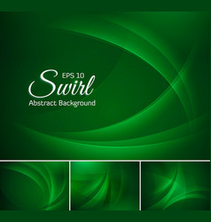 Curvy abstract background dark green vector