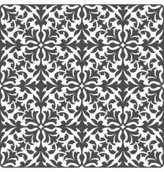 Damask floral seamless pattern with gray foliage vector image