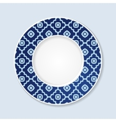 Decorative plate with abstract ornament vector image